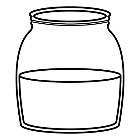 mason jar glass with liquid vector illustration design 일러스트
