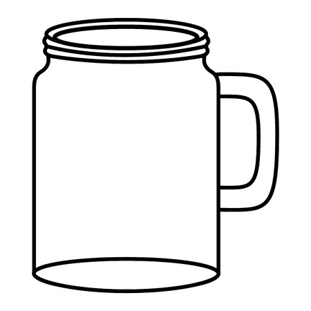 mason jar glass empty vector illustration design