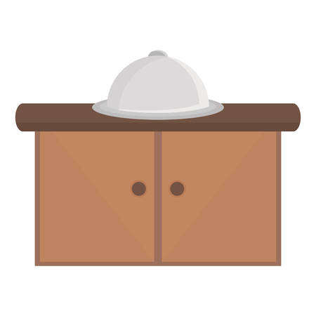 kitchen drawer with tray server vector illustration design Stok Fotoğraf - 122984130