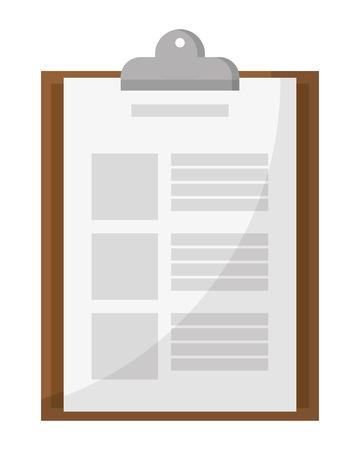 delivery clipboard checklist icon isolated vector illustration graphic design Ilustrace