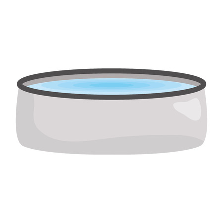 pet dish with water vector illustration design
