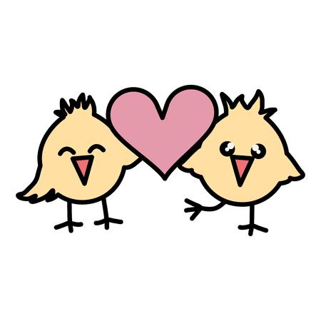 Cute little pollitos personajes de pascua, diseño de ilustraciones vectoriales Ilustración de vector