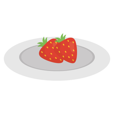 strawberry fresh fruit icon vector illustration design Illusztráció