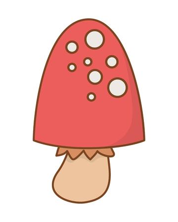 nature fungus cartoon vector illustration graphic design