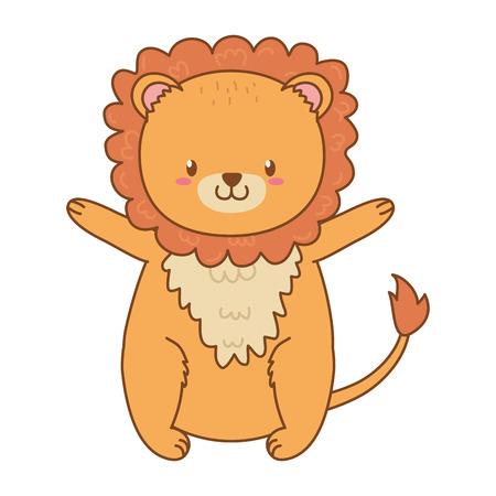 cute lion woodland character vector illustration design Foto de archivo - 122940892