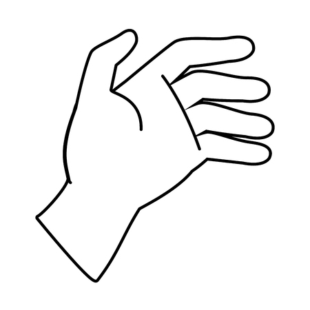 human hand cartoon vector illustration graphic design