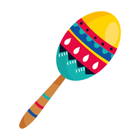 mexican culture mexico maraca instrument cartoon vector illustration graphic design