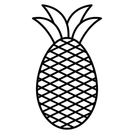 pineapple fresh fruit icon vector illustration design