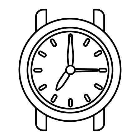 time clock cartoon vector illustration graphic design Stock Vector - 122906323