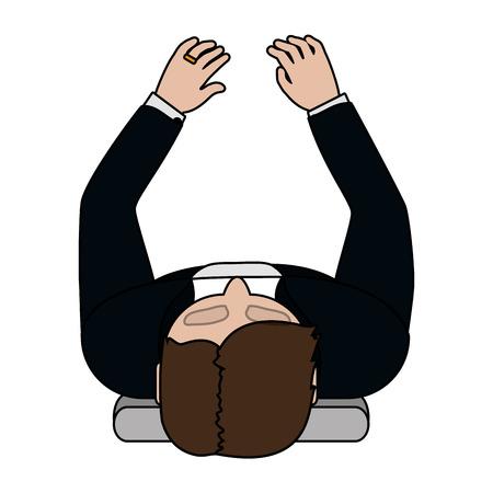 human man upper view cartoon vector illustration graphic design Stockfoto - 122906462