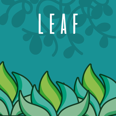Plant and leaves cute green background vector illustration graphic design Stock Illustratie