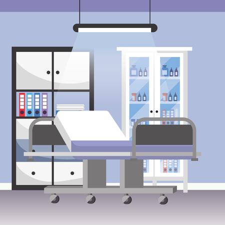 modern furniture scene hospital doctors office cartoon vector illustration graphic design Stok Fotoğraf - 122910213