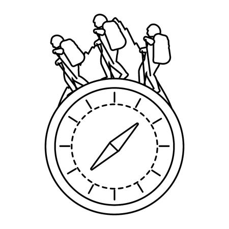 outdoor camping chronometer concept cartoon vector illustration graphic design