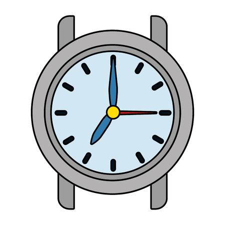time clock cartoon vector illustration graphic design Stock Vector - 122910393