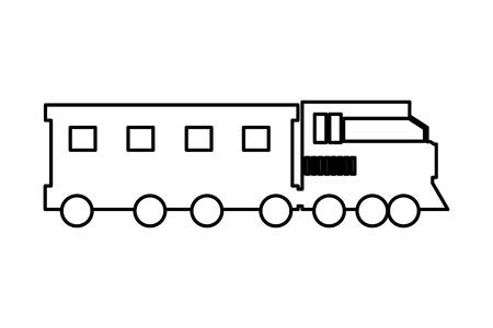 transportation concept train cartoon vector illustration graphic design Stock Illustratie