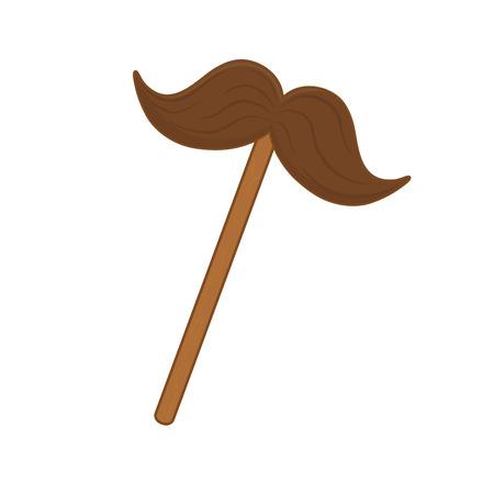 moustache icon cartoon isolated vector illustration graphic design
