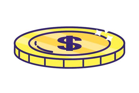 saving money finance business bank element cartoon vector illustration graphic design Imagens - 122867430