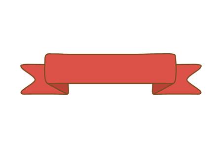 ribbon icon cartoon isolated vector illustration graphic design