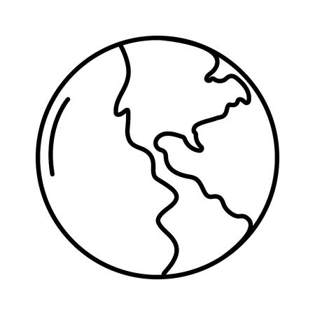 wolrd map cartoon vector illustration graphic design Ilustração