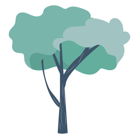 tree icon cartoon isolated vector illustration graphic design
