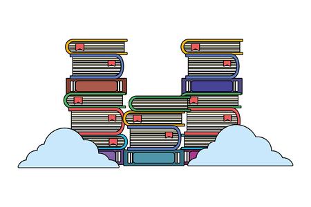 online education elements cartoon vector illustration graphic design 向量圖像