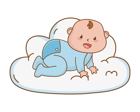 cute baby shower baby cartoon vector illustration graphic design