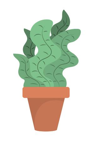 plant pot icon cartoon vector illustration graphic design Ilustração
