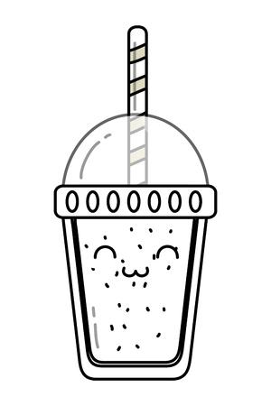 delicious tasty sweet milkshake cartoon vector illustration graphic design 向量圖像
