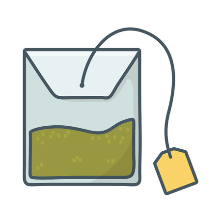tea bag cartoon vector illustration graphic design