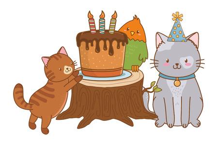 cute pet animal cartoon Illustration
