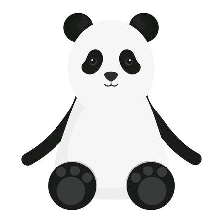cute bear panda childish character vector illustration design Standard-Bild - 122801461