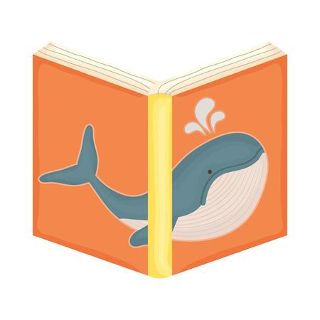 text book open icon vector illustration design