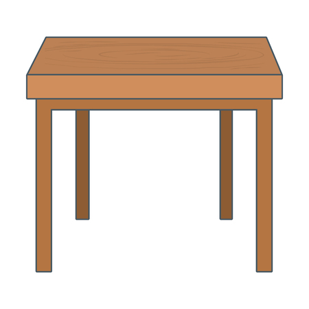 furniture table cartoon vector illustration graphic design Stok Fotoğraf - 122801551