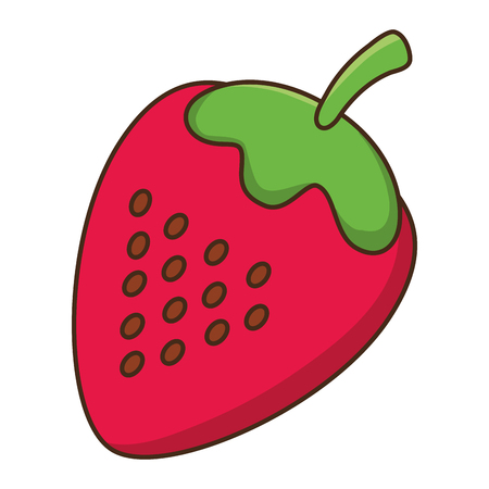 delicious tasty food fruit strawberry cartoon vector illustration graphic design  イラスト・ベクター素材