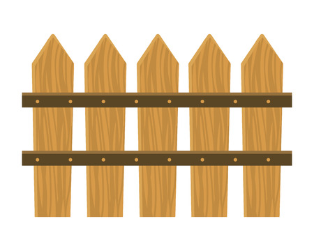wooden fence cartoon vector illustration graphic design Banque d'images - 122801605