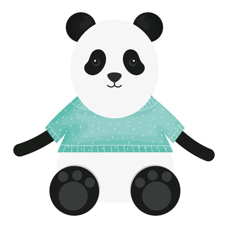 cute bear panda childish character vector illustration design Standard-Bild - 122801713