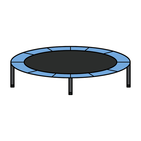 elastic trampoline isolated icon vector illustration design