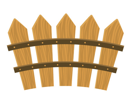 wooden fence cartoon vector illustration graphic design