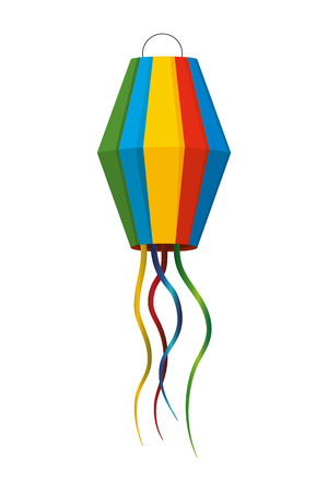 festive party lantern celebration scene cartoon vector illustration graphic design