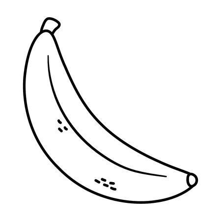 Délicieux aliments savoureux fruits banane cartoon vector illustration graphic design