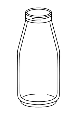 glass bottle mason jar cartoon vector illustration graphic design  イラスト・ベクター素材