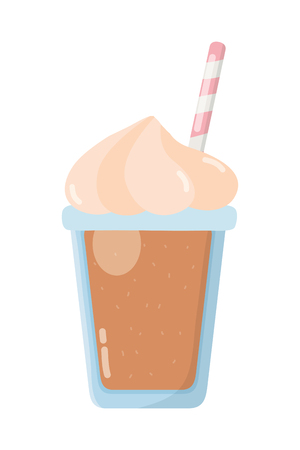 delicious tasty drink milkshake cartoon vector illustration graphic design  イラスト・ベクター素材