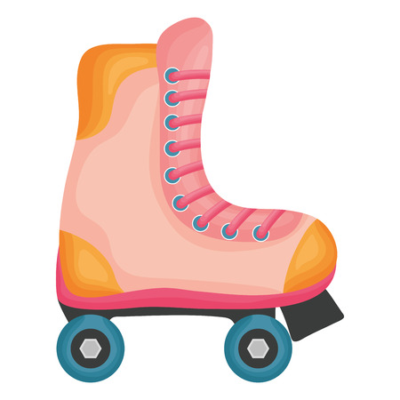 skate roller isolated icon vector illustration design