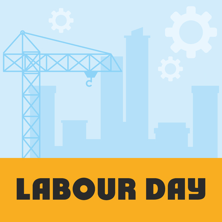 crane tower construction labour day