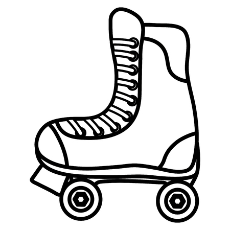 skate roller isolated icon vector illustration design