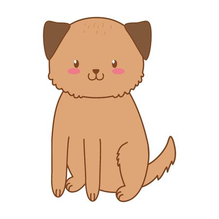 cute dog woodland character vector illustration design Foto de archivo - 122693135