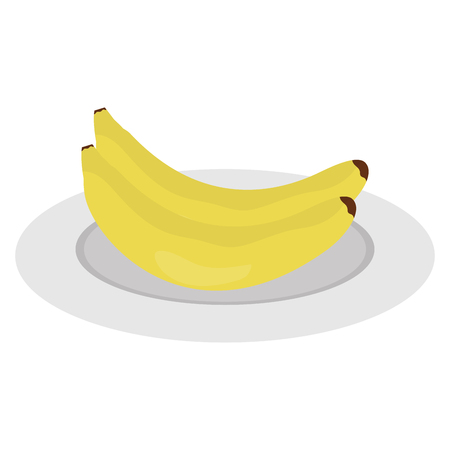 bananas fresh fruit icon vector illustration design