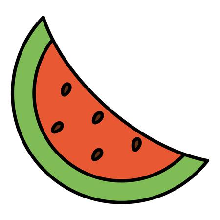 watermelon fresh fruit icon vector illustration design Ilustração