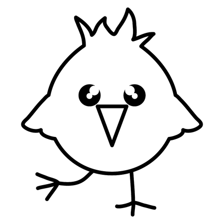 cute little chick easter character vector illustration design