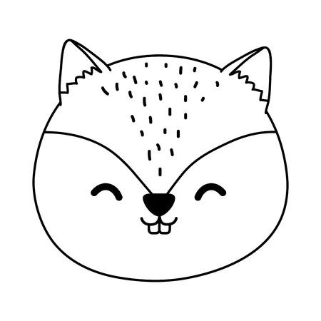 cute chipmunk woodland character vector illustration design Foto de archivo - 122693463